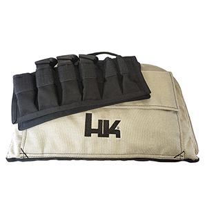 HK Large Pistol Bag With 6 Magazine Pouch, Tan